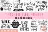 Teacher Life Bundle SVG Cut File DXF PNG EPS JPG example image 1
