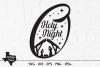 O Holy Night SVG, Cut File, Christmas Holiday Shirt Design example image 1