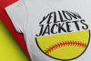 yellow jackets softball svg softball mom jackets baseball example image 1