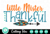 Little Mister Thankful - A Thanksgiving SVG Cut File example image 2
