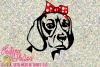 Beagle with Bandana Bow example image 1