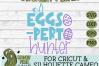 Eggs-Pert Hunter Easter Egg Hunt Spring SVG Cut File example image 4