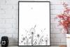Floral Doodle Art, A1, SVG example image 1