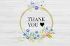20 Geometric Framesw With Field Flowers, Poppy Wedding Frame example image 9