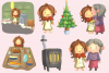 Little Matchstick Girl Fairy Tale Clip Art Collection example image 3