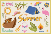 Summer Holiday Vector Clipart & Seamless Patterns example image 5