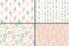 Romantic pastel floral seamless digital paper, patterns example image 3
