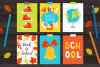 12 School Cards & Bonus Patterns example image 3