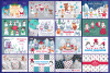 Christmas bundle. Vector cliparts and seamless patterns example image 2