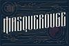 Masquerouge Font example image 1