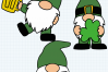 St. Patrick's Day SVG, Leprechaun Gnomes Cut Files example image 5