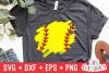 Paint Stroke   Baseball   Softball SVG Cut File example image 2