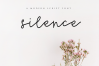 Silence - Delicate Script Font example image 1