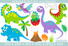 Dinosaur SVG cut files for crafters example image 1
