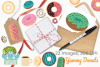 Yummy Donuts Clipart, Instant Download Vector Art example image 4
