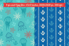 Sea Greeting Cards and Seamless Patterns example image 2