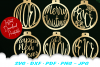 Christmas Ornament Earring SVG DXF Cut Files Bundle example image 4