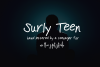 Surly Teen - A Handlettered Print example image 1