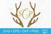 Deer Antler Monogram SVG Christmas SVG Deer SVG Antlers SVG example image 1