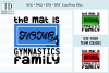 The Mat is Home for this Gymnastics Family, SVG, Sublimation example image 1