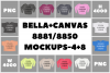 Bella Canvas 8881/8850 Women's Tshirt Mockups - 12 PNG example image 1