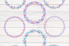 Christmas wreaths. Watercolor cliparts example image 5