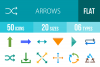 50 Arrows Flat Multicolor Icons example image 1