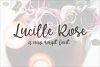 Lucille Rose - A Script Font example image 1