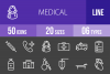 50 Medical Line Inverted Icons example image 1