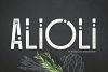 Alioli Texture Font example image 1