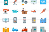 50 News & Media Flat Multicolor Icons example image 2