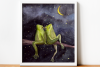 Dreaming Frogs - Watercolor Illustration/Print example image 2