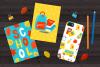 12 School Cards & Bonus Patterns example image 5