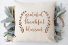 Grateful Thankful Blessed svg cut file Fall Thanksgiving svg example image 2