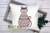 Cat paper cut design. SVG / DXF / EPS / PNG files example image 2