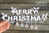 Merry Christmas paper cut SVG / DXF / EPS files example image 1