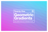 Geometric Gradient Polygon Backgrounds Collection example image 1
