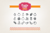 Hand Drawn Fruits Icons example image 1