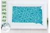 South Dakota State Mandala SVG Cut File example image 1