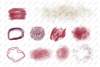 Watercolor Burgundy and Gold Glitter Backgrounds example image 2