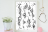 Abstract Floral Art, A1, SVG example image 3