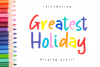 Greatest Holiday - pencil font - example image 1