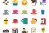 90 Coffee & Cafe Flat Icons example image 2