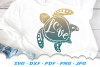 Sea Turtle Love Heart SVG DXF Cut Files example image 1