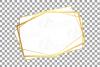 Elegant wedding geometric golden frames, lineal frames png example image 26