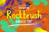 Rockbrush Marker Font example image 1