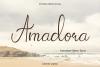 Amadora font example image 1