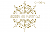 Christmas mandala, single line sketch file / foil quill file example image 8