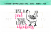 Just A Girl Who Loves Chickens SVG Design example image 2