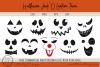 Halloween Jack O Lantern Faces - Pumpkin Faces - SVG Pumpkin example image 1